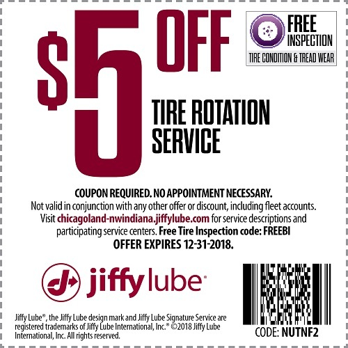 Tire Rotation Coupon Jiffy Lube